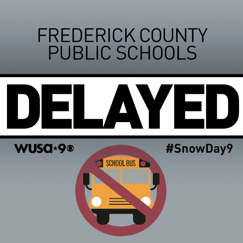 Frederick County Schools in Md. are operating on a 2-hour DELAY Tuesday. CLOSINGS & DELAYS