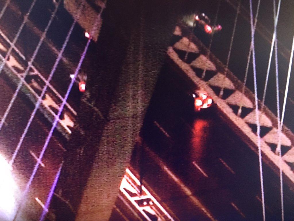 Disabled vehicle blocking right lane on 93 NB at Zakim Bridge in Boston 7News