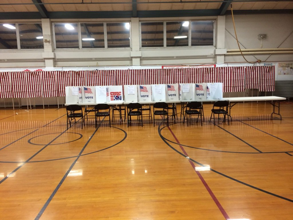 Polls open in here Nashua at 6. There are already a few voters waiting to get in fox25nh FITN