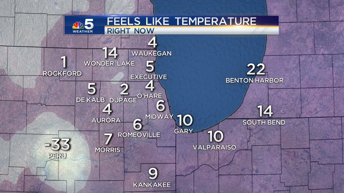 Computer error in Peru, but most locations have single digit wind chill readings at 4:45 this morning @nbcchicago