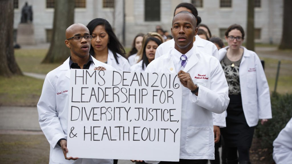 Students at @HarvardMed are railing against a lack of diversity in the faculty