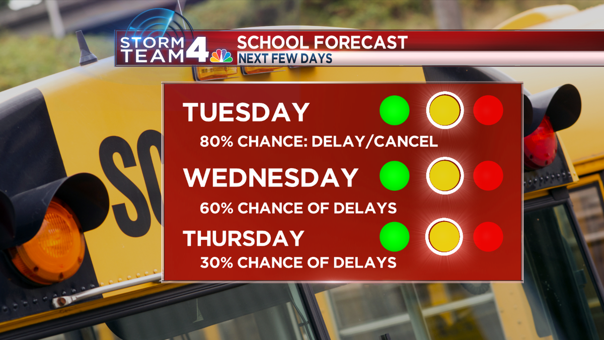 WeatherAlert: Wet snow causing delays, cancellations today and that trend may continue into Wed-Thurs. SnowDay