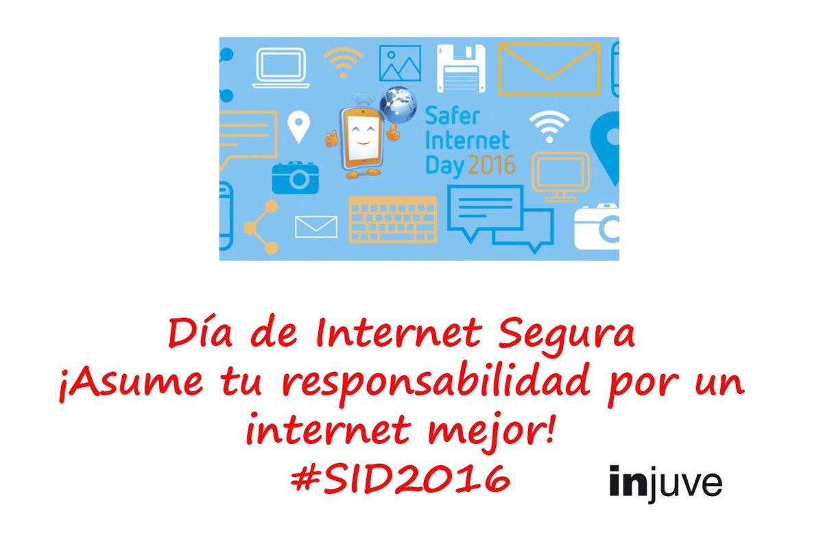 Disfruta de Internet, aprende, diviértete... ¡Pero hazlo con cabeza! #SID2016 #jóvenes #redsij https://t.co/gKTv7ndJdF