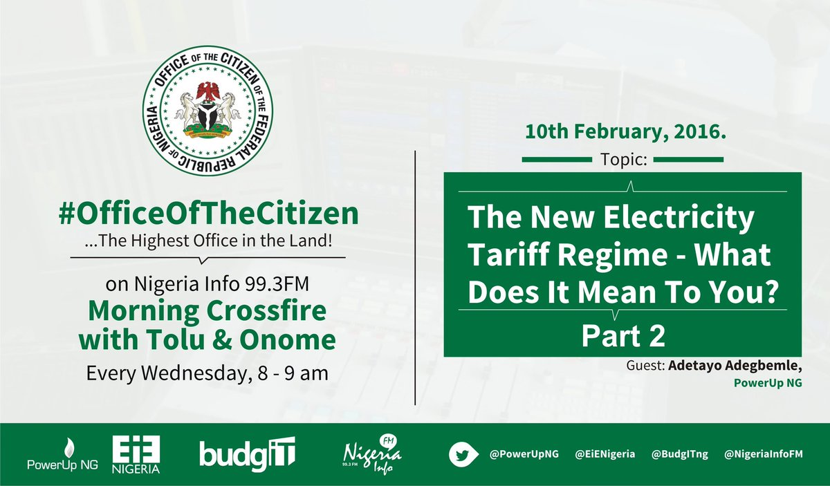 Thumbnail for #OfficeOfTheCitizen - The New Electricity Tariff Regime (Part 2)