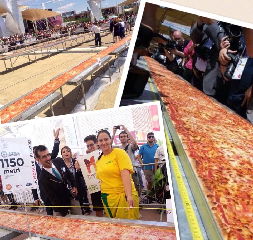 The longest ever pizza? 1,595.45 m (5,234 ft 4.8 in) at @Expo2015Milano on 20 June 2015 #NationalPizzaDay 🍕 https://t.co/si18SyUQLR