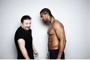 A face-off is no laughing matter @rickygervais #ThrowbackThursday #TBT https://t.co/qYHGCMwW5X