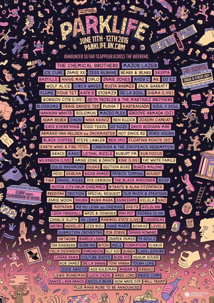 The award for best festival line up of 2016 goes to @Parklifefest! https://t.co/0rLPtyaqoq