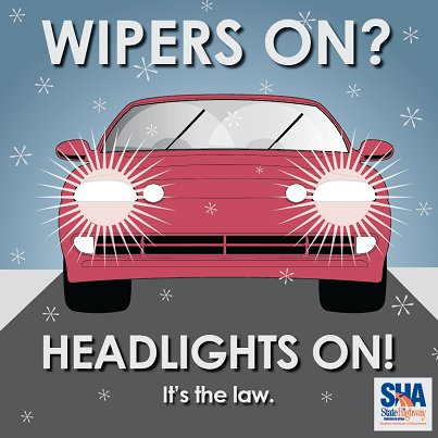 wipers on? headlights on!