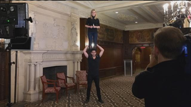 Check out our behind the scenes look at Pippin with @SarahSFrench!