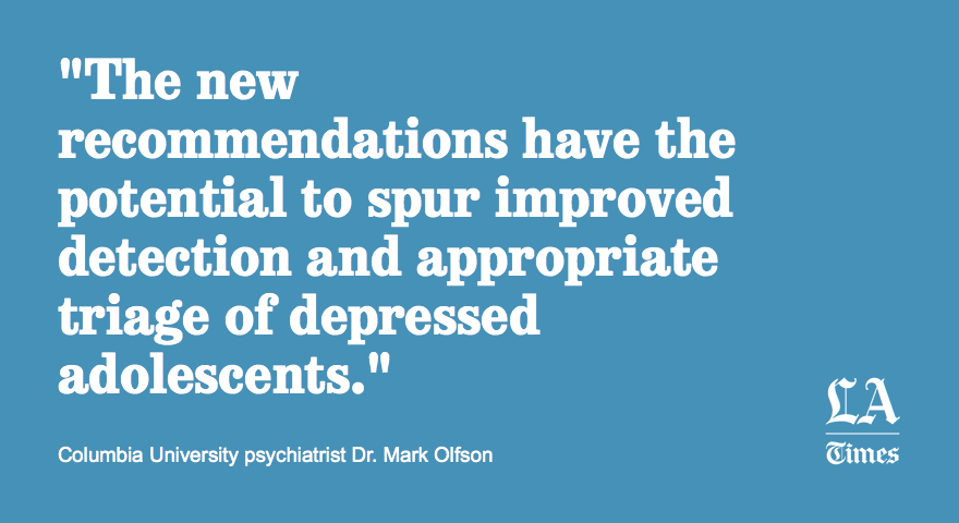 Adolescents should be screened for depression too, federal panel says