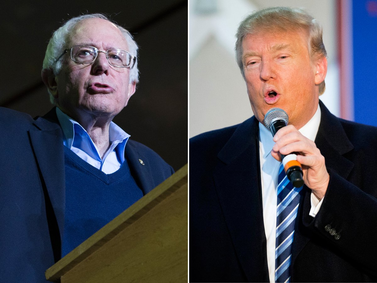 If Trump and Sanders win in N.H., it would be their first wins of the 2016 election