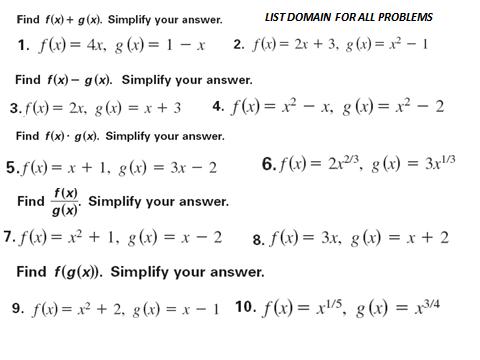Mr Estep On Twitter Alg II Practice Problems