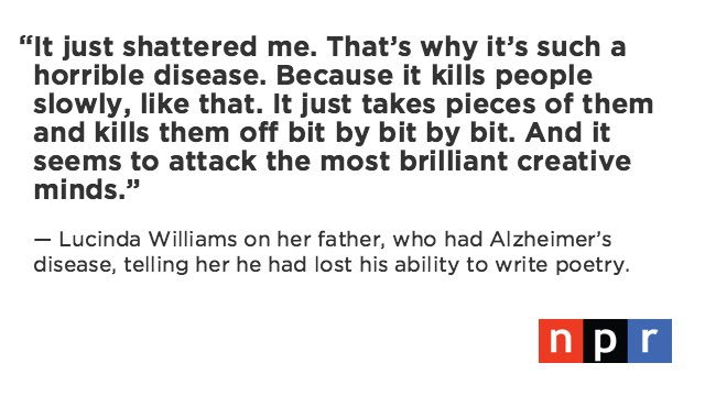 Do you empathize w @HappyWoman9 on the impact of #Alzheimers? Tweet me here. @MorningEdition https://t.co/HZgZf9cRu1 https://t.co/sEZRcGMG6U