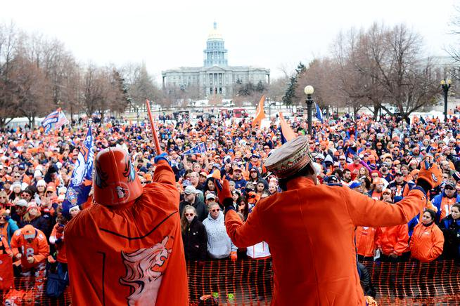 Sunny skies, warm temps expected for Broncos SB50 parade in Denver cowx