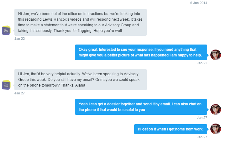 It started with a DM telling me that  they were bringing their advisory group to discuss it. @AllAboutTrans https://t.co/NDdDQsKVxw