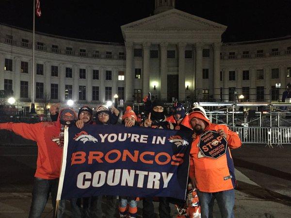 Denver @Broncos fans line streets before sunrise for Super Bowl victory parade -