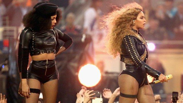 Beyonce gets political at Super Bowl