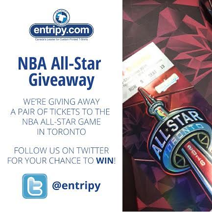 Tag a friend you want to go to the game with to WIN & follow @Entripy https://t.co/NaDLjJnkw4 #EntripyAllStar https://t.co/a11OghKC4V