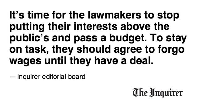Our editorial: No budget, no pay for Pa. legislators