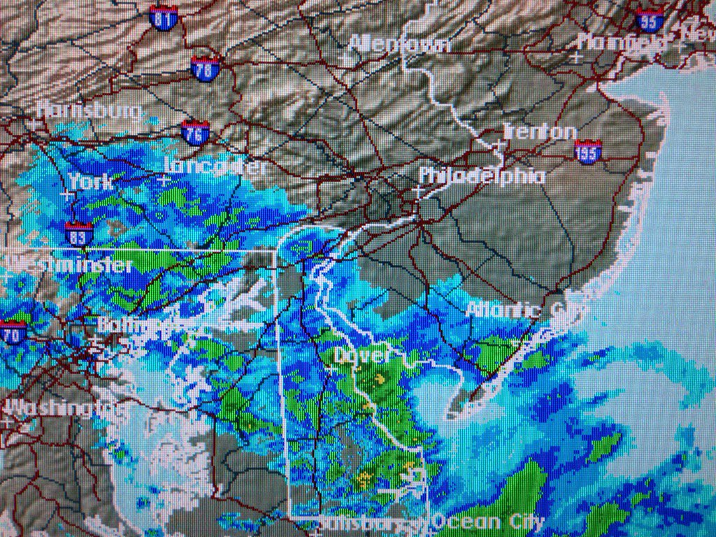 Steadiest snow is currently out in Chester county and Cecil county MD cbs3