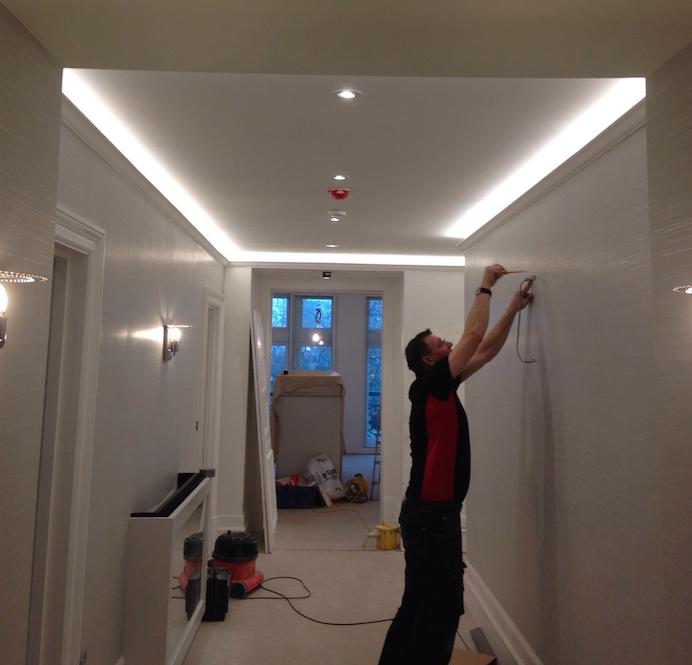Kitchen Lighting Pelmet: Elegant Tray Ceiling Ideas Images