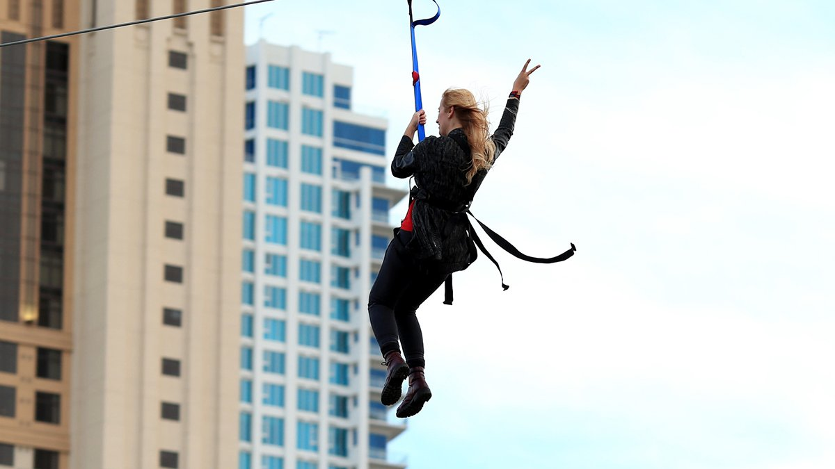 You can zipline in Millennium Park this weekend