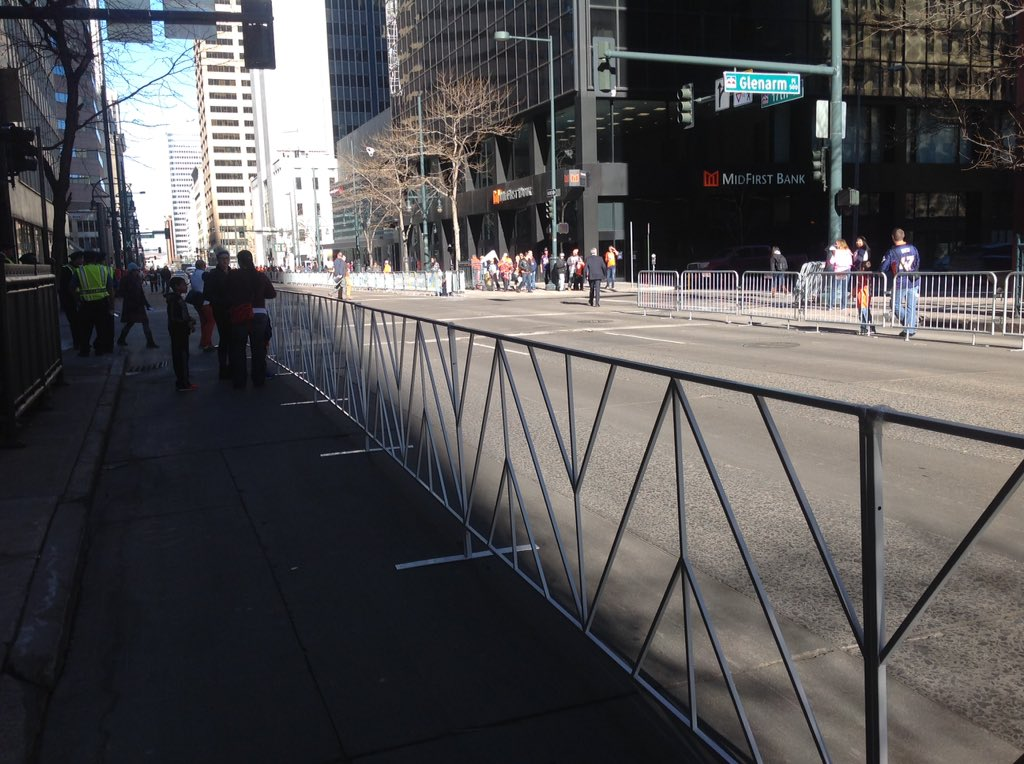 Plenty of front row room for BroncosParade along 17th! Not the case on Broadway