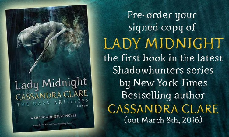 .@cassieclare's #LadyMidnight arrives in 28 days! Have you pre-ordered your signed 1st ed? https://t.co/bI0QY4K08M https://t.co/kSOAkpzg3k