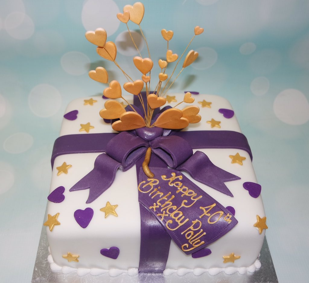 Amazing Crafty Cakes On Twitter Love The Colours On This 40Th Birthday Funny Birthday Cards Online Drosicarndamsfinfo