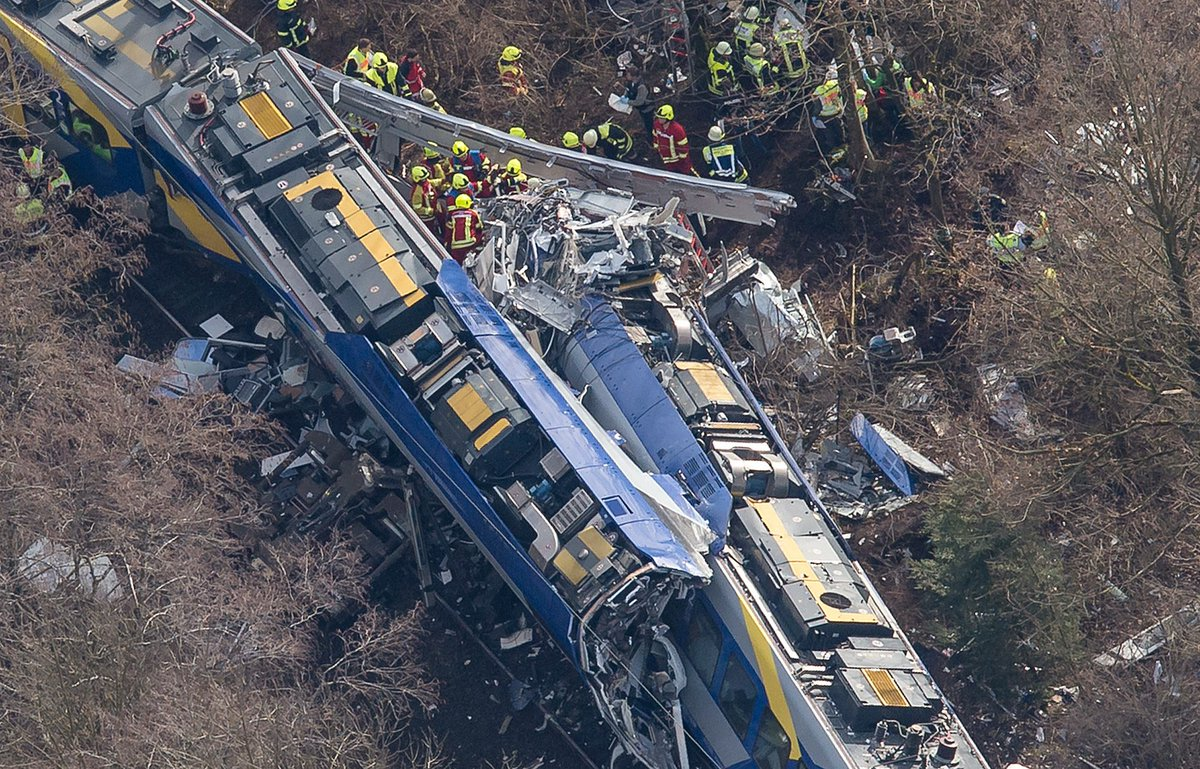 Germany transport minister on train crash: Automatic safety braking system apparently failed