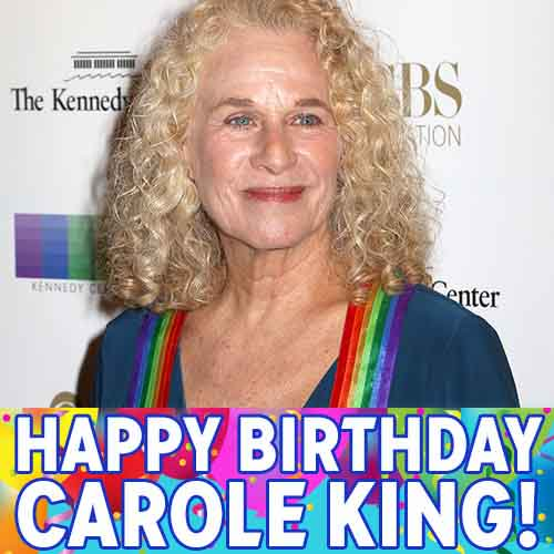 Iconic singer-songwriter @Carole_King turns 74 today. Happy Birthday!