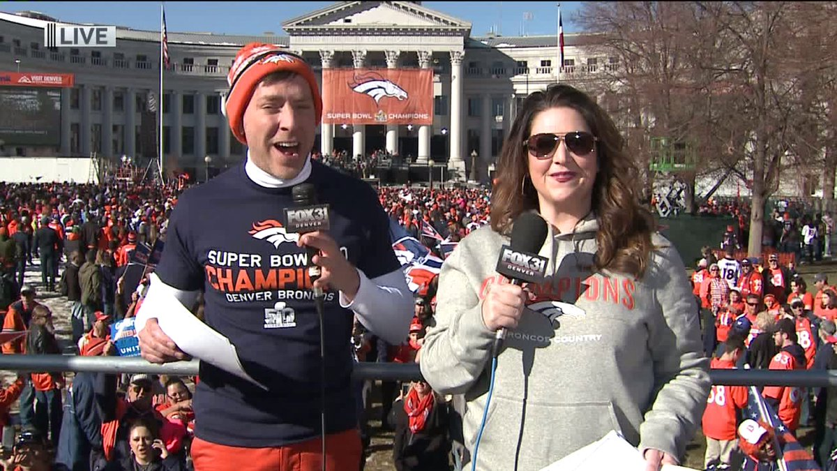 Watch @Everyday_Show live from the Broncos celebration right now on FOX31 Denver!