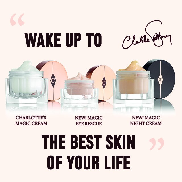Wake up to the best skin of your life with my NEW Magic Skin Trilogy. https://t.co/uEUZZM8oFa https://t.co/RxfMDkt1Ia