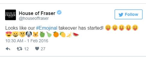 RT @TheDrum: If @wearesocial's Charlotte Miller ran social media for House of Fraser during #emojinal https://t.co/PPpqEaXKCC https://t.co/…