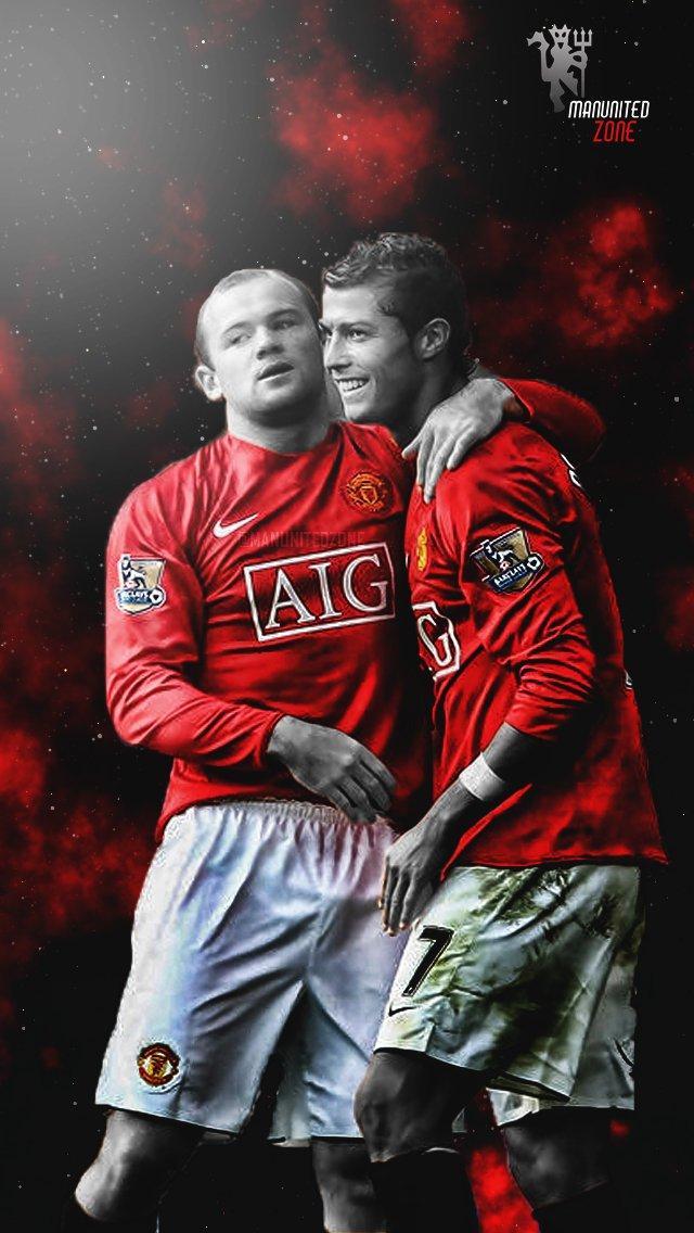Manunitedzone On Twitter Ronaldo Rooney Iphone Wallpaper