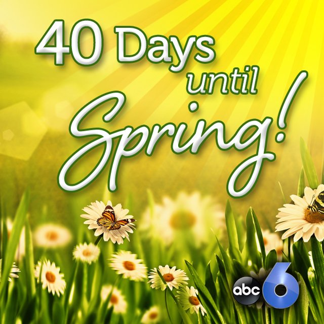 Only 40 DAYS until Spring! The countdown is on. woohoo