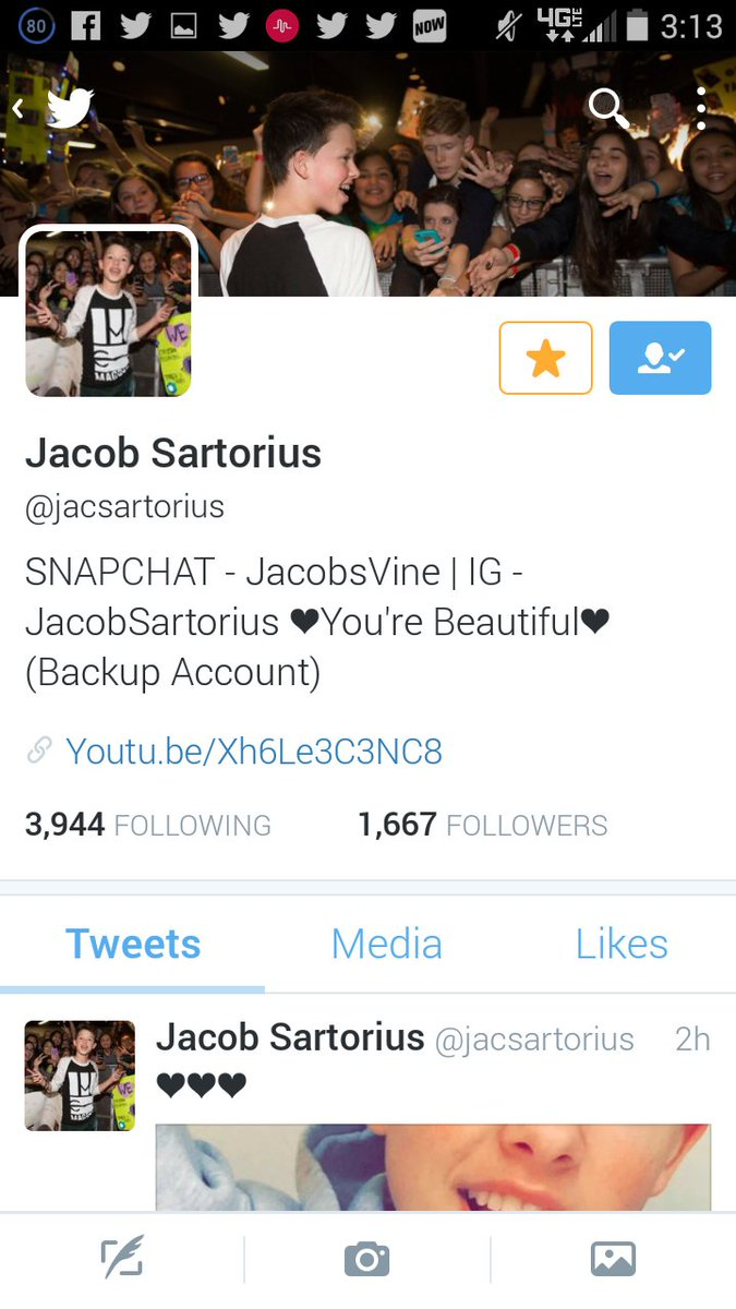 jacob sartorius on twitter who has my notifications on send me a