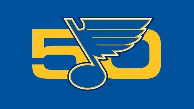 "chris creamer on twitter: ""st louis blues unveil their 50th"