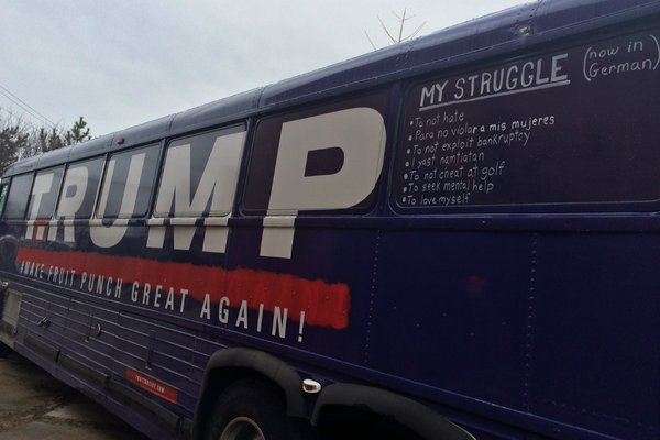 When T.RUMP arrives in your town, straight outta Philly