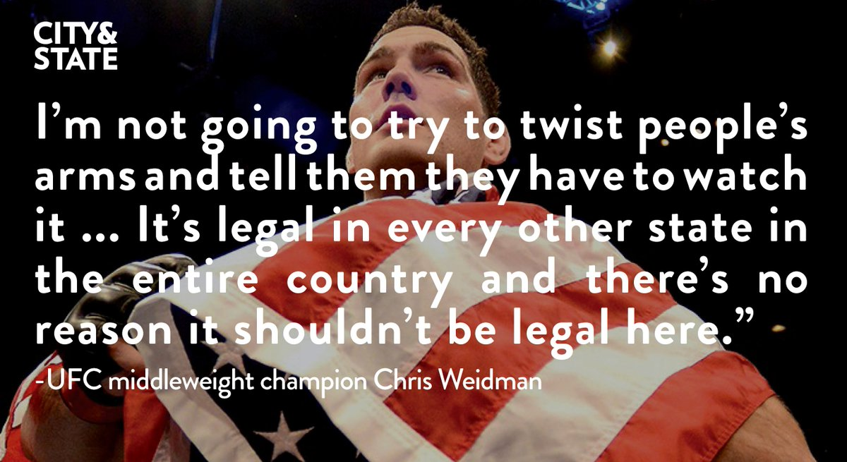 UFC Champion @ChrisWeidmanUFC spoke to C&S about what legalized MMA means for NY fighters https://t.co/hcaKHkRGEA https://t.co/pDnTOdhqb6