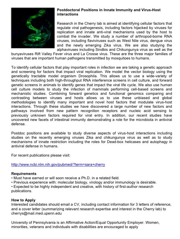 Upenn Cover Letter.Ccoyne On Twitter Postdoc Positions Available In The Lab