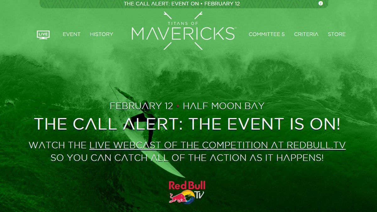 Calling the world's best surfers! The Mavericks surf competition is on this Friday
