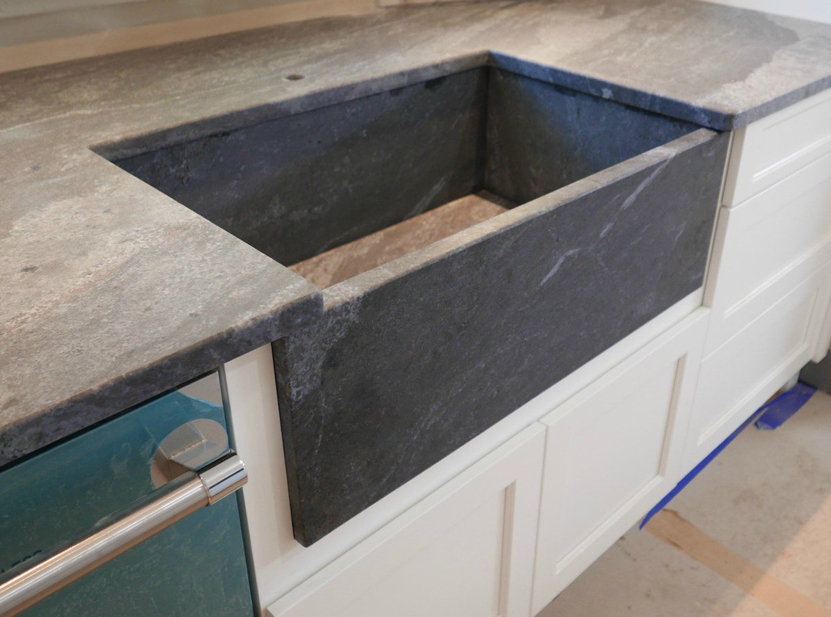 This Old House On Twitter Check Out This Farm Style Sink Made Out Of Granite Yes Granite Tunein To Tohbelmont For More Details