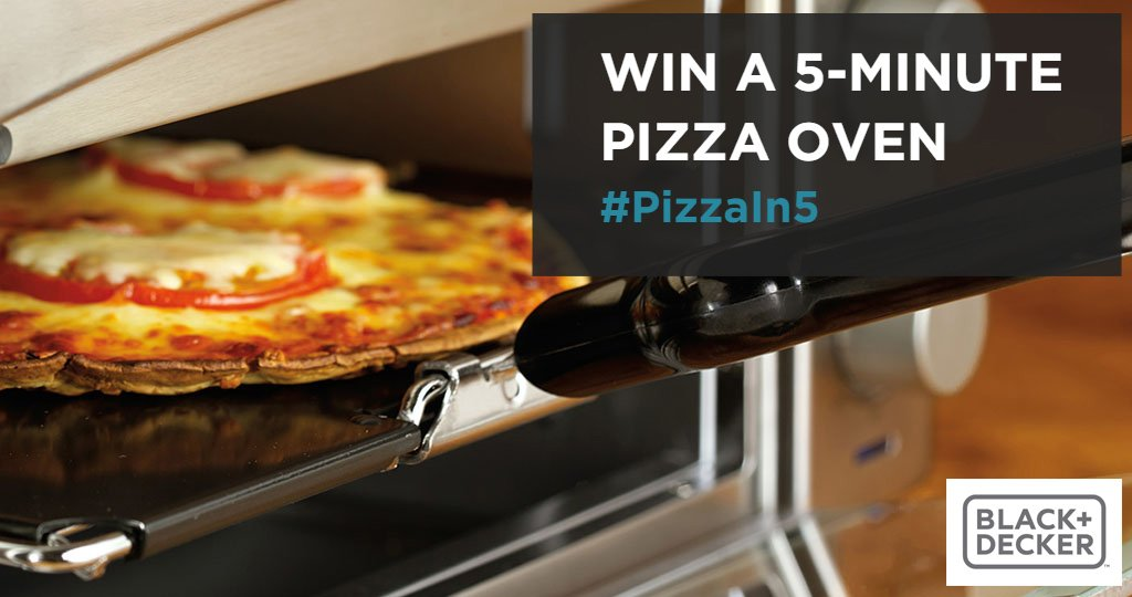 Do you want #PizzaIn5? Tweet to #win our 5-Min Pizza Oven @blackanddecker #NationalPizzaDay https://t.co/hXkzTbtSIB https://t.co/O8ZqXD3cAc