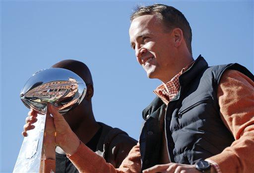 Manning celebrates Super Bowl victory --
