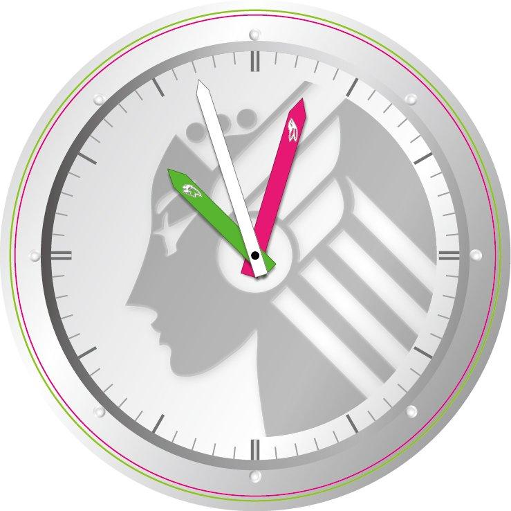 このタグで合っているかな? あとは、こんな時計の盤面っていいよね〜!って考えたものです(*^^*)  #タイバニデザイン部 #タイバニ文化祭