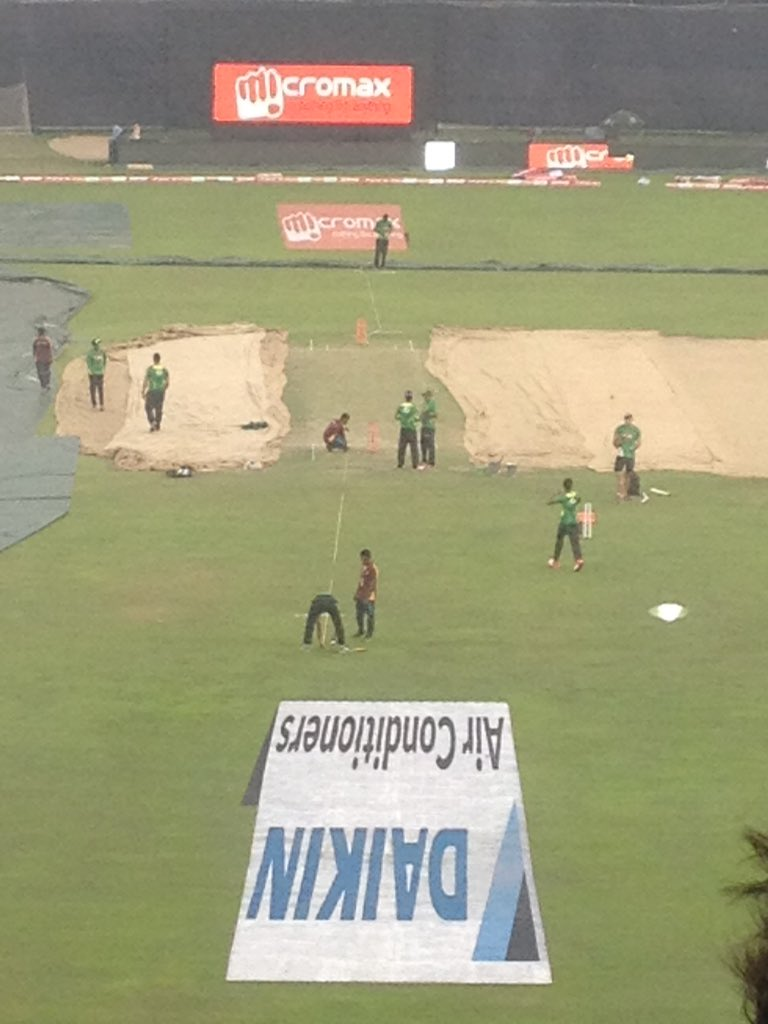 #BANvIND Asia Cup opener will be played on this rather green pitch. Queue the frenzy. https://t.co/rVNaXxurVf