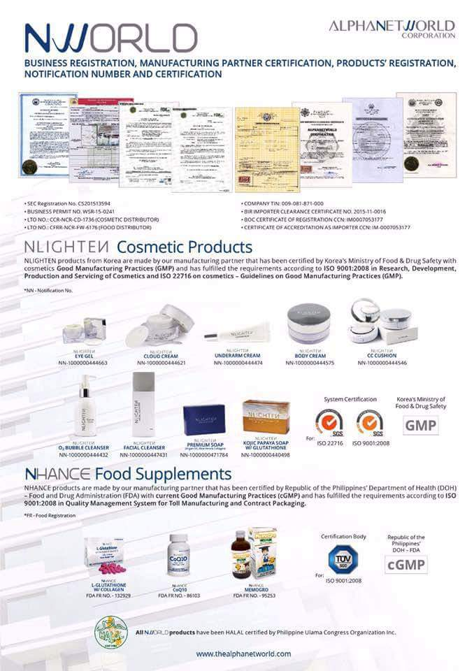 list of iso certified products in the philippines