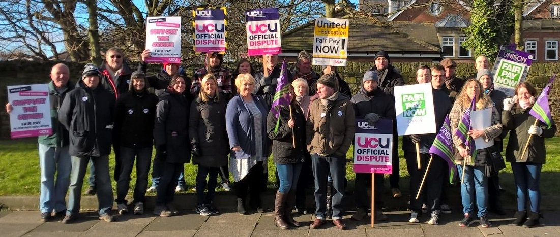 Media coverage of UCU & Unison strike at South Tyneside College https://t.co/FcNDReRLiD #FEstrike24feb #FairPayInFE https://t.co/YuPq9hdPbZ