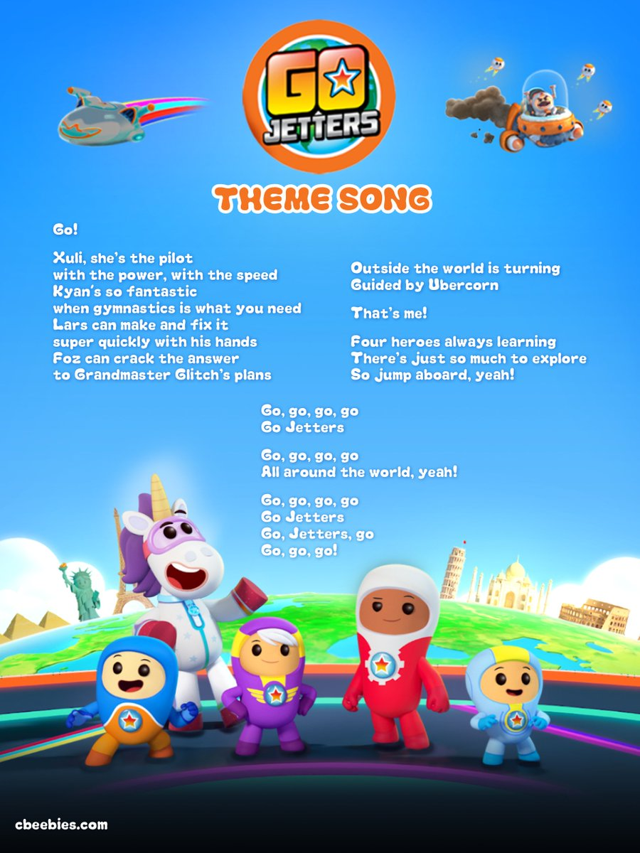 Go Jetters On Twitter Quot Sing Along To The Go Jetters Theme